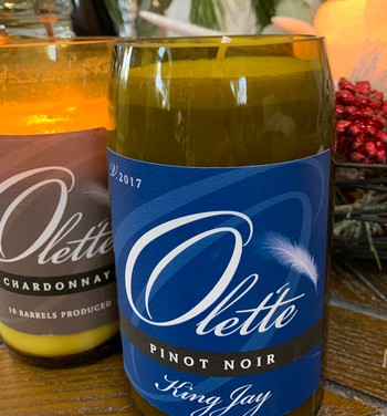 OLET'TE WINE BOTTLE CANDLES BY ROGUE CANDLE COMPANY NAPA VALLEY