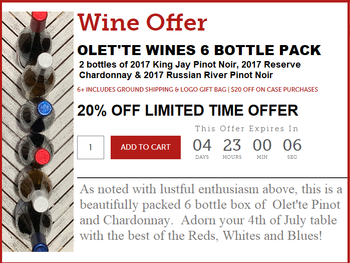 Olet'te 4th of July 6 Bottle Pack